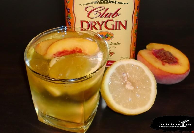 Gin z brzoskwiniami