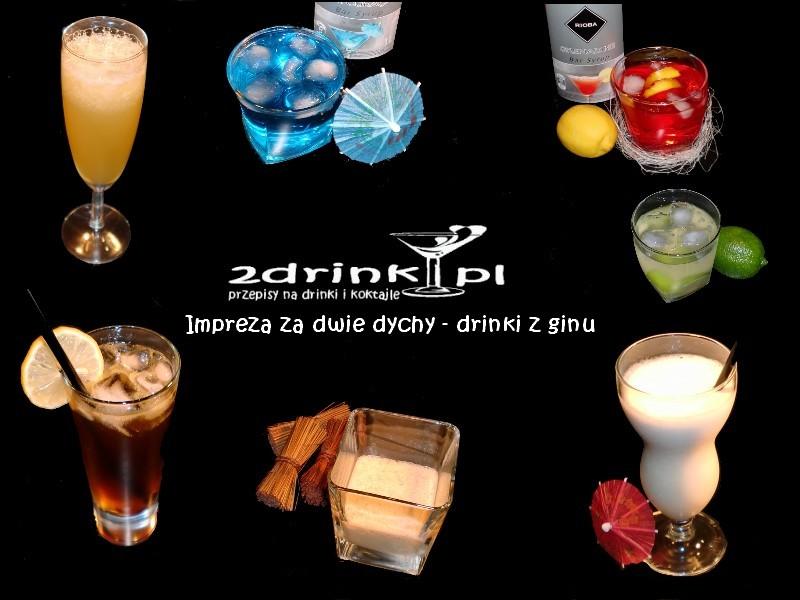 Impreza za dwie dychy – drinki z ginu