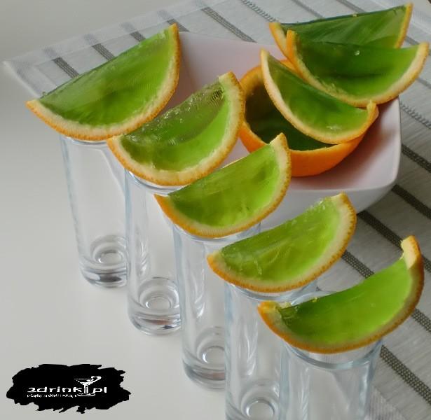 Alkożelki w pomarańczach