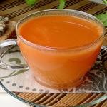 Napój śniadaniowy z marchewek i grejpfruta