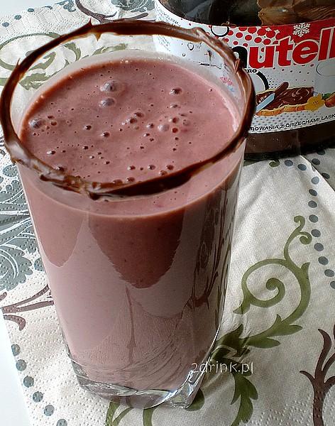 Truskawkowe mleko z Nutellą