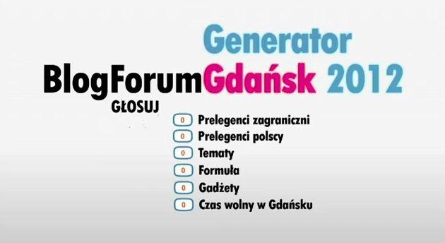Zapowiedź Blog Forum Gdańsk 2012