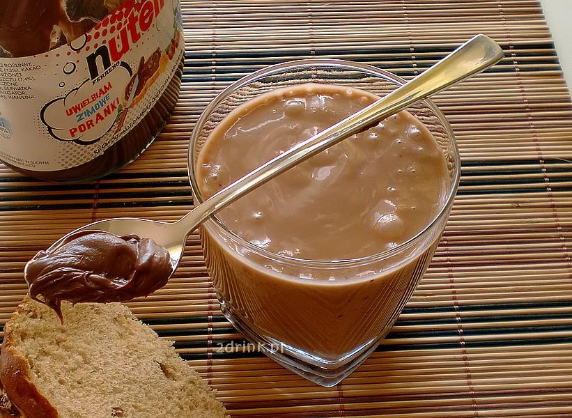 Na śniadanie: koktajl brzoskwiniowy z Nutellą