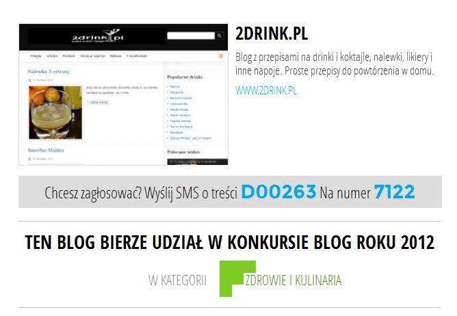 2drink blogiem roku 2012