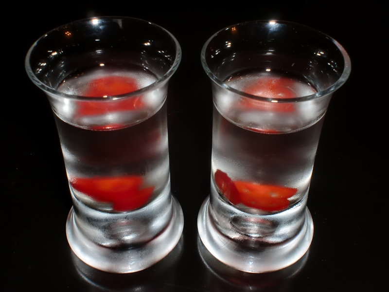 Chili vodka shot