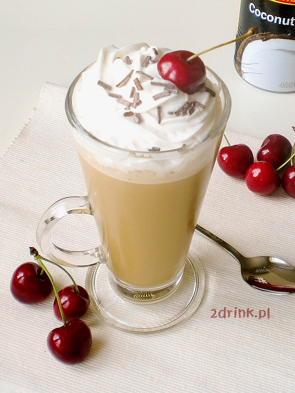 Kawa mrożona z mlekiem kokosowym