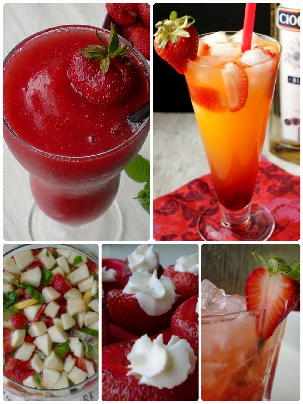 drinki z truskawek
