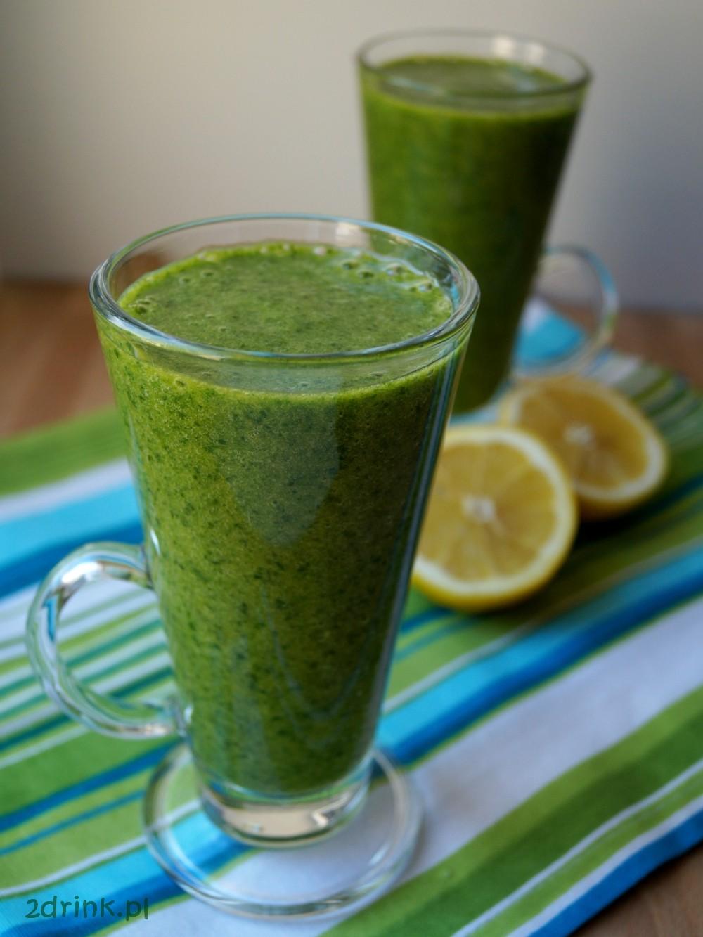 Green smoothie ze szpinaku