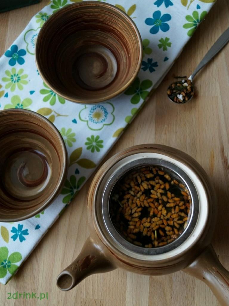 Zielona herbata Genmaicha z dodatkiem prażonego ryżu