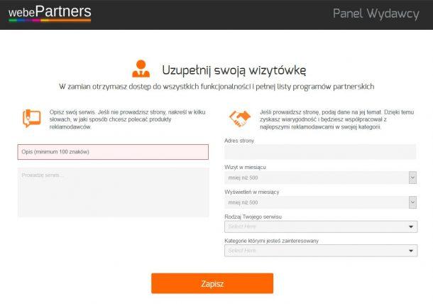 Program partnerski 2drink - rejestracja
